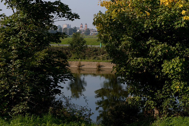 St Ignatius Church from Walthamstow Reservoirs