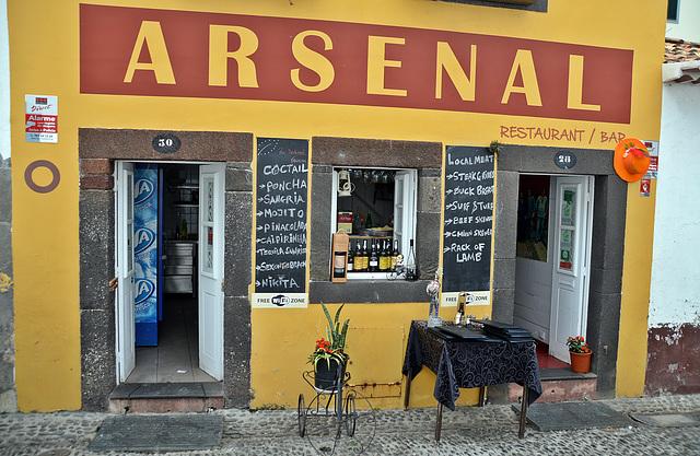 Südamerikanisches Flair, mit Englischem Namen auf der Insel Madeira