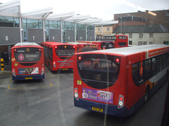 DSCF2134 Arriving in Northampton bus station