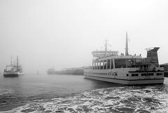 Ships in the fog