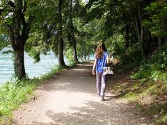 Auf dem Uferweg -