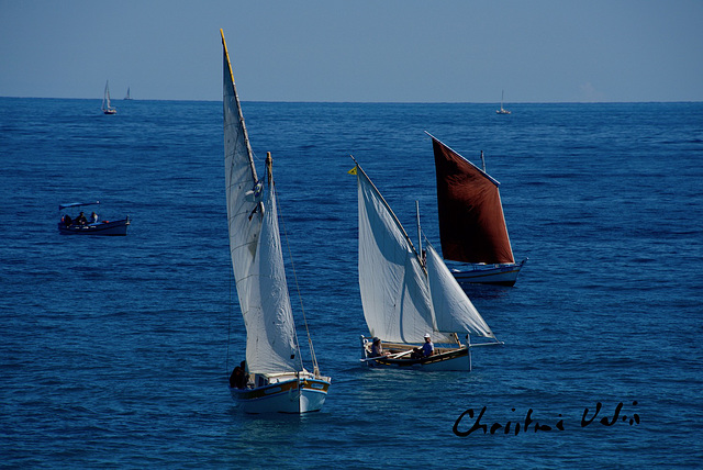 sailing of old boats