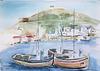 Aquarelle : FOUNTI - Agadir avant le 29/02/1960