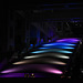 Japan, Tokyo, Color Lights of the Stairway of Fuji Television