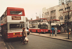 Leicester Citybus buses in Leicester - 26 Jan 1987 (44-24)