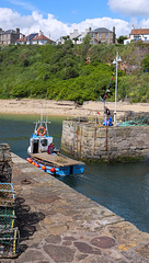 Fishing Boat Leaving Crail Harbour