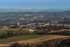 Blick zur St. Annenkirche von Annaberg