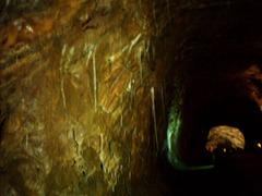 Salt stalactites.
