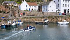Speed Boat in Crail Harbour