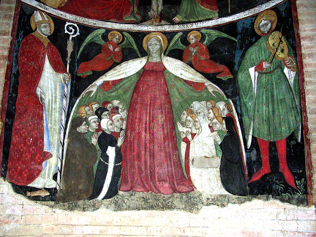 Fresco sheltering the church