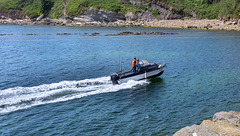 Speed Boat Approaching Crail Harbour