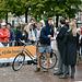Leidens Ontzet 2019 – Fierljeppen – The winner recieves a bicycle