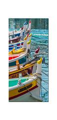 Les capians des pointus dans le port de Cassis.