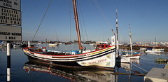 Traditional boat of Tagus estuary.