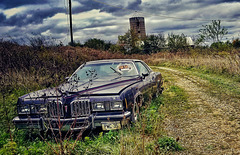 down the abandoned road....