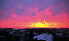 Ein spektakulärer Sonnenaufgang - A stunning sunrise
