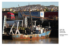 Fishing boat CT 73 - Newhaven  - 13.1.2015