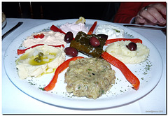 Greek sauces  at the Restaurant Mykonos in Milan