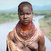 Karo girl before Omo river