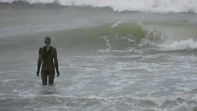 Gormley in the water