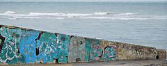 Graffitii and waves at Margate