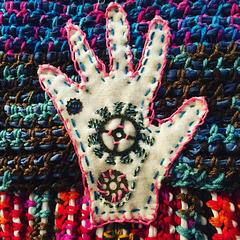 Detail, crochet work in progress