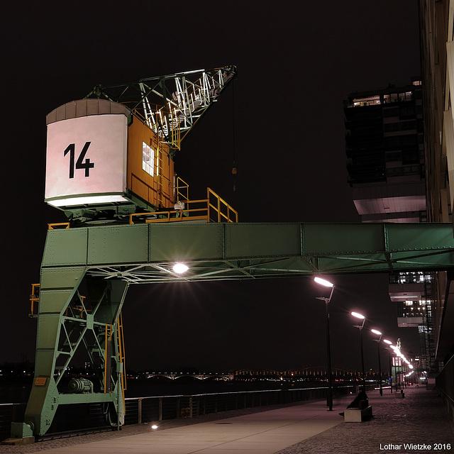 Lastenkran Nr. 14 im Rheinauhafen