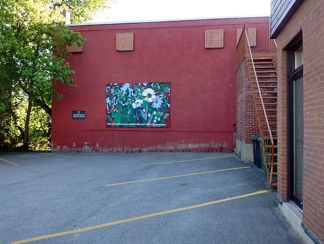 Fleurs murales / Flowery wall