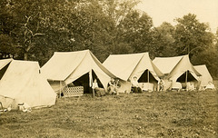 Tents at Raise 'ell Camp, Cooks Mill, Pennsylvania