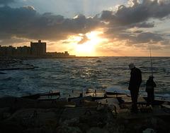 Les Pêcheurs au soir tombant