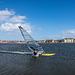 Windsurfing on West Kirby marine lake