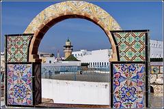 Tunisi : Dai tetti della Medina il minareto della Mosque Hammouda Pacha