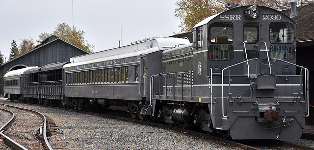 Train at Sacramento Museum