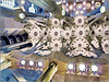 Barcellona : la Sagrada Familia , interior view : la volta della navata centrale , un capolavoro di :