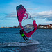 Windsurfing at West Kirby marine lake