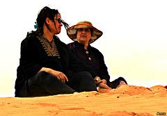 Sur la dune d'Abadla..(Petite ville du Sahara)