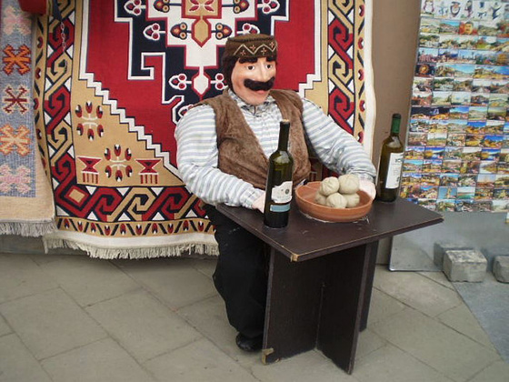 Outside the shop of Dynamo Tbilisi.