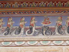 Wandmalerei im Haveli