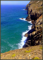The Cliffs at St Agnes. For Pam.