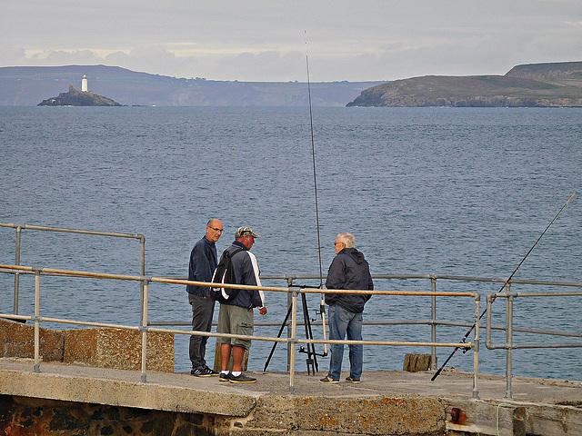 Anglers and light house