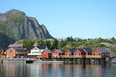 Norway, Lofoten Islands, Fisherman's Cabins in the Village of Hamnøy