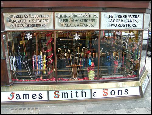 James Smith brolly shop