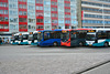 Colourful Arriva buses