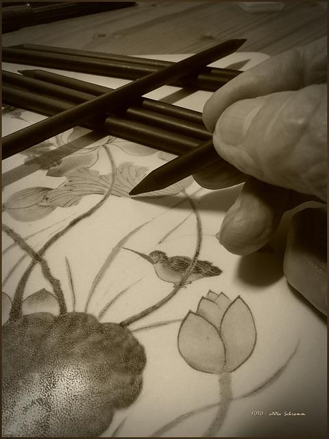 (Stifte - Bleistifte ~ 3/50)  ... in Sepia
