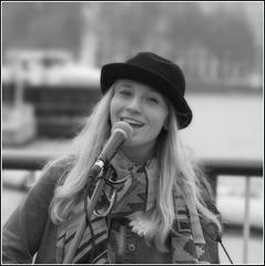Charlotte Campbell, Busking on the South Bank