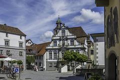 Wangen im Allgäu, Marktplatz mit Rathaus