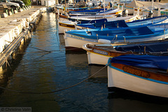 the blue boats!