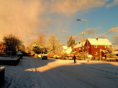 Forton Rd in sunlight and shadow, 18.12.2010