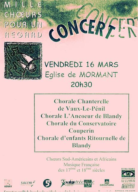 Mille Chœurs à Mormant le 16/03/2001