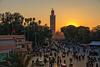 Djemaa el Fna - sunset from the balcony